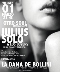 Julius Solo & Los Lovers en la Dama de Bollini